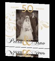 Goldene Hochzeit Einladungskarten Hochwertige Karten