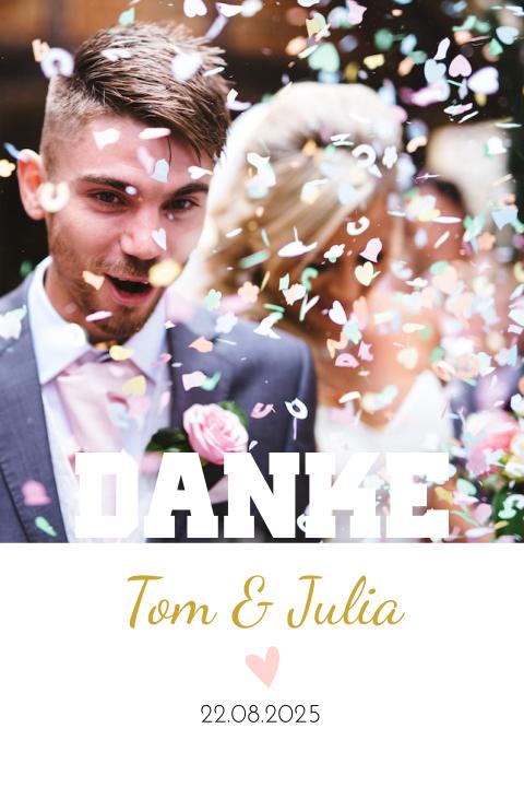 Danksagung Hochzeit Mit Goldenen Buchstaben