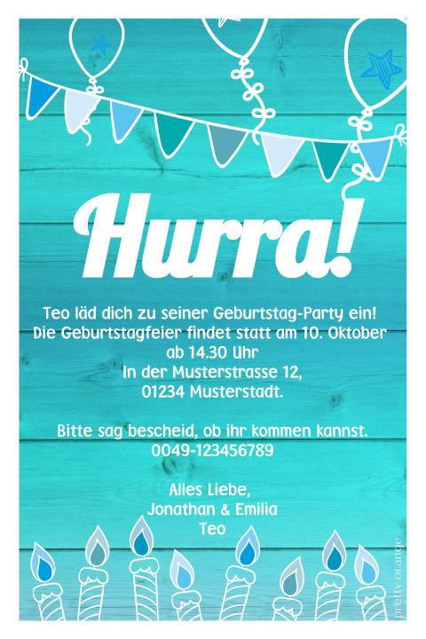 Personalisierte Blau in Party' 'Erste Kindergeburtstag