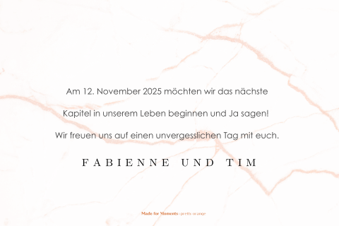 Save-the-Date Karte mit elegantem Foliendruck