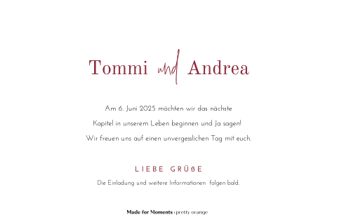 "Save-the-Date Karte mit dezenten ""Bohemian Flowers"""