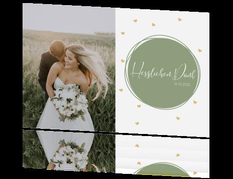 Romantische Danksagung Zur Hochzeit Mit Süßen Herzen